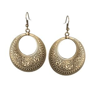 COMING SOON! Gold Earrings With Vintage Etching